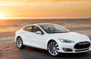 White Car Tesla