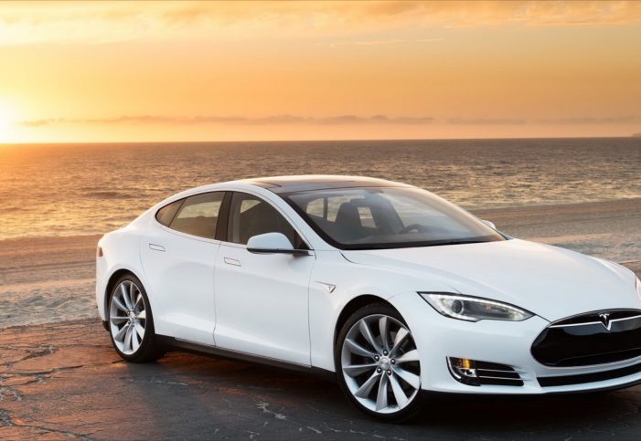 White Car Tesla